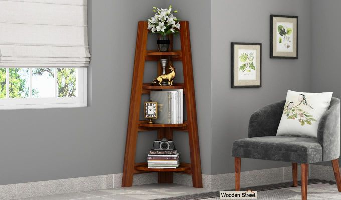 Severino Bookshelf (Honey Finish)-1