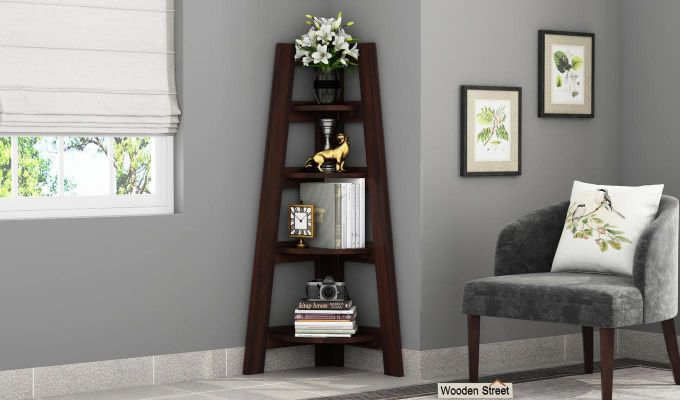 Severino Bookshelf (Walnut Finish)-1