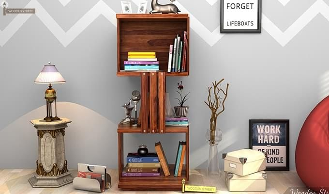 Sybil Bookshelf (Teak Finish)-1