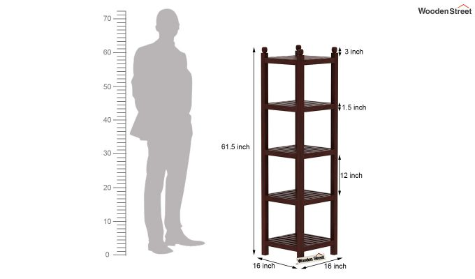 Topaz Bookshelf (Mahogany Finish)-5