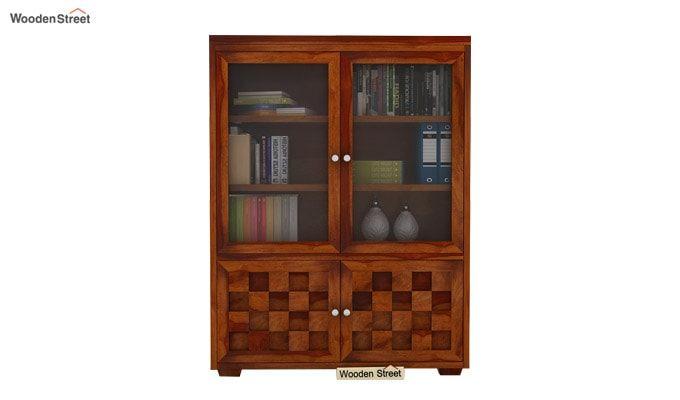 Travis Book Shelf (Honey Finish)-2