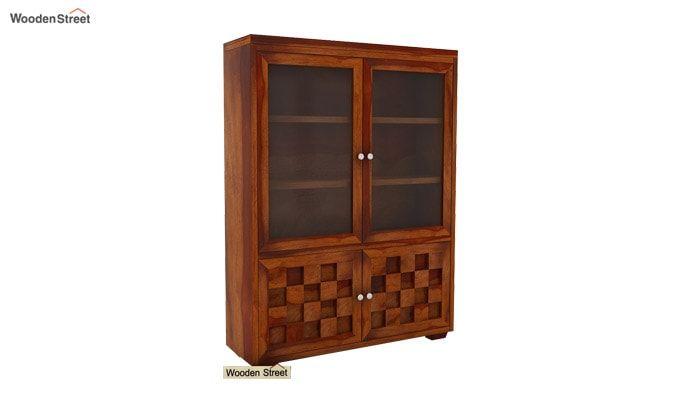 Travis Book Shelf (Honey Finish)-3
