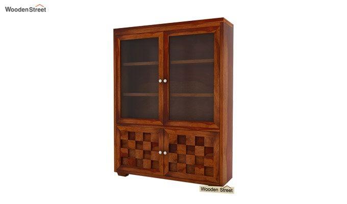 Travis Book Shelf (Honey Finish)-4