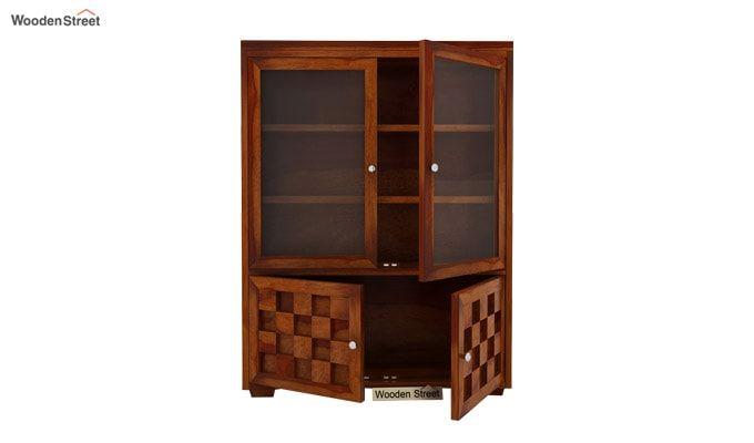 Travis Book Shelf (Honey Finish)-5