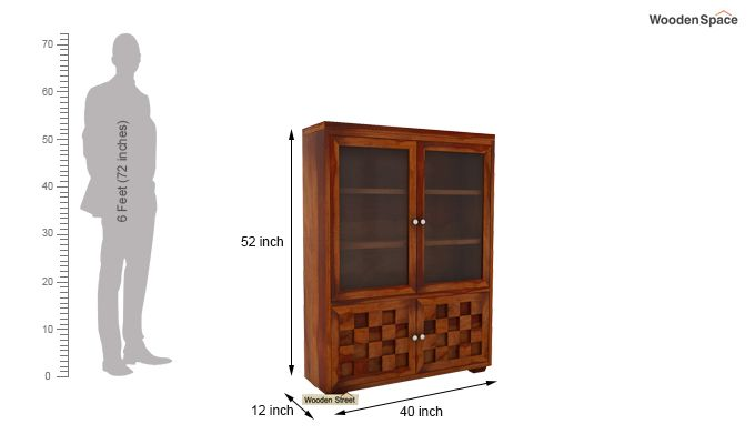 Travis Book Shelf (Honey Finish)-6