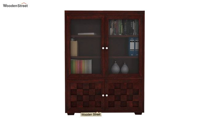 Travis Book Shelf (Mahogany Finish)-1