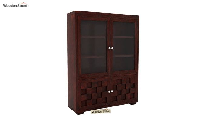 Travis Book Shelf (Mahogany Finish)-2