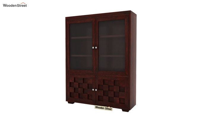 Travis Book Shelf (Mahogany Finish)-3