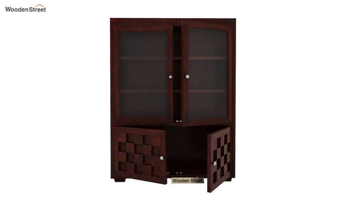 Travis Book Shelf (Mahogany Finish)-4