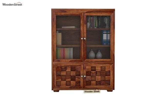 Travis Book Shelf (Teak Finish)-1
