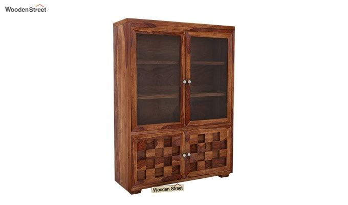 Travis Book Shelf (Teak Finish)-2