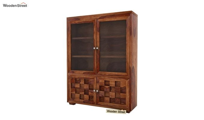 Travis Book Shelf (Teak Finish)-3