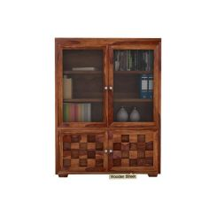 Travis Book Shelf (Teak Finish)
