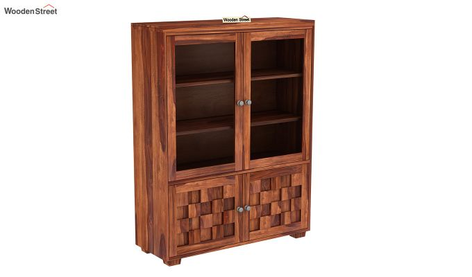 Travis Book Shelf (Honey Finish)-2