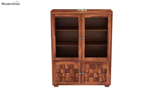 Travis Book Shelf (Honey Finish)-3