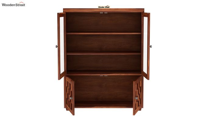 Travis Book Shelf (Honey Finish)-4