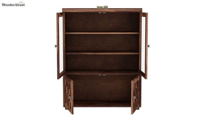 Travis Book Shelf (Teak Finish)-4