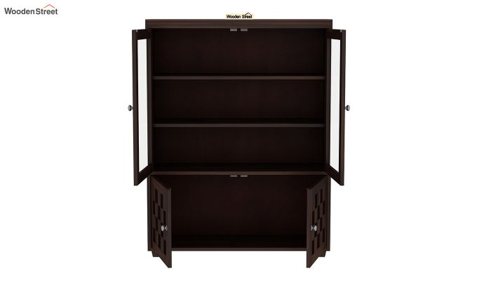 Travis Book Shelf (Walnut Finish)-3