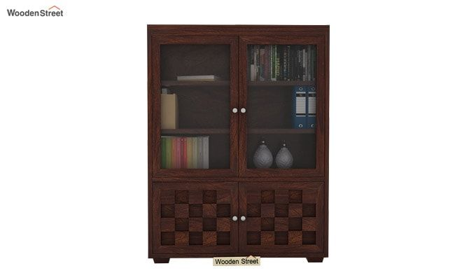 Travis Book Shelf (Walnut Finish)-1