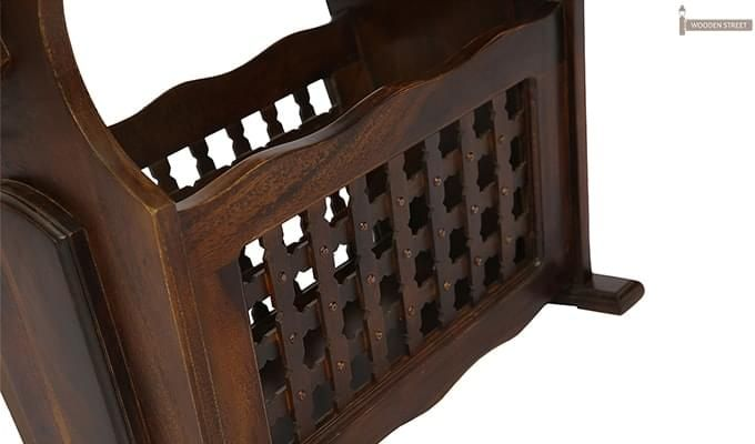Tredwell Magazine Rack (Walnut Finish)-10