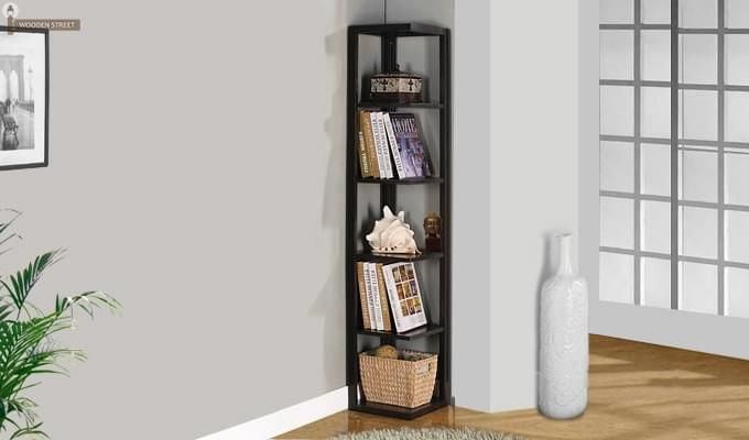 Valley Bookshelves (Black Finish)-1