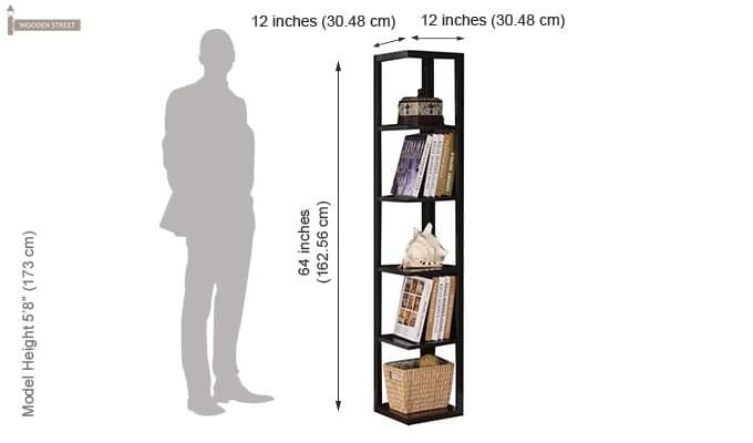 Valley Bookshelves (Black Finish)-3