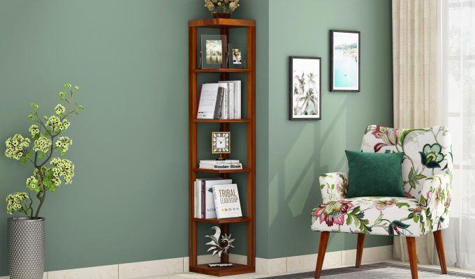 Valley Book Shelf (Honey Finish)-1