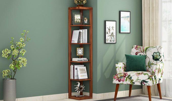 Valley Book Shelf (Teak Finish)-1