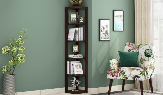 Valley Book Shelf (Walnut Finish)-1