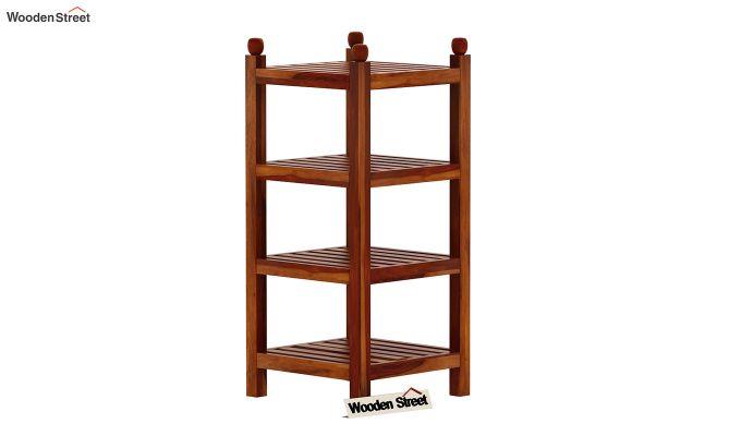 Vasco Book Rack (Honey Finish)-2