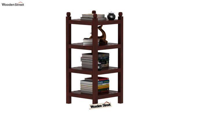 Vasco Book Rack (Mahogany Finish)-1