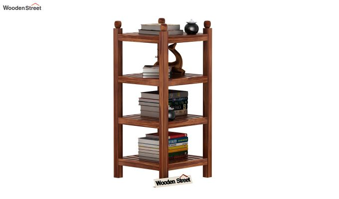 Vasco Book Rack (Teak Finish)-2