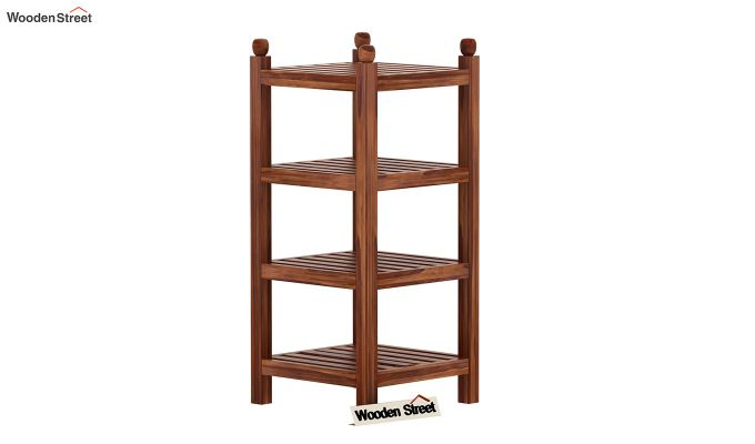 Vasco Book Rack (Teak Finish)-3