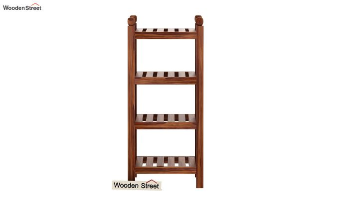 Vasco Book Rack (Teak Finish)-4