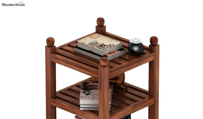 Vasco Book Rack (Teak Finish)-5