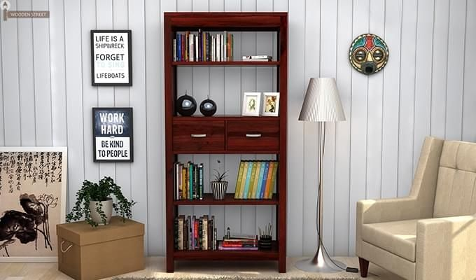 Vito Bookshelf (Mahogany Finish)-1