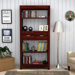 Vito Bookshelf (Mahogany Finish)