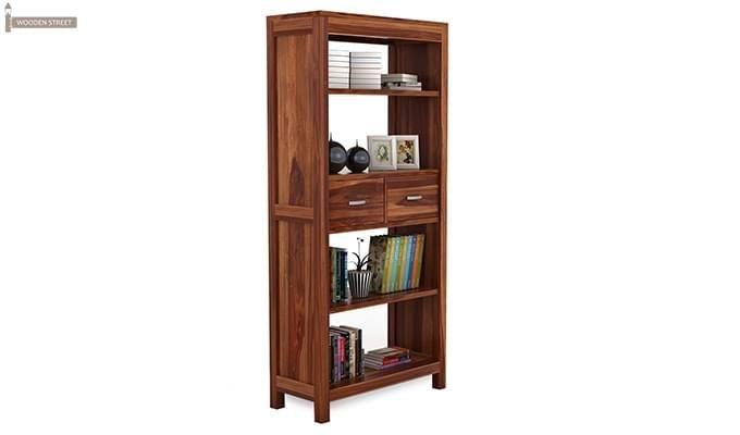 Vito Store Bookshelf (Honey Finish)-2