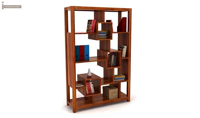 Welles Book Shelves (Honey Finish)-1