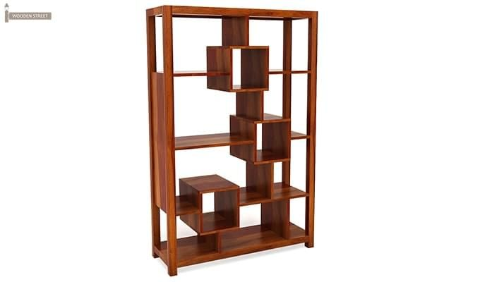 Welles Book Shelves (Honey Finish)-2