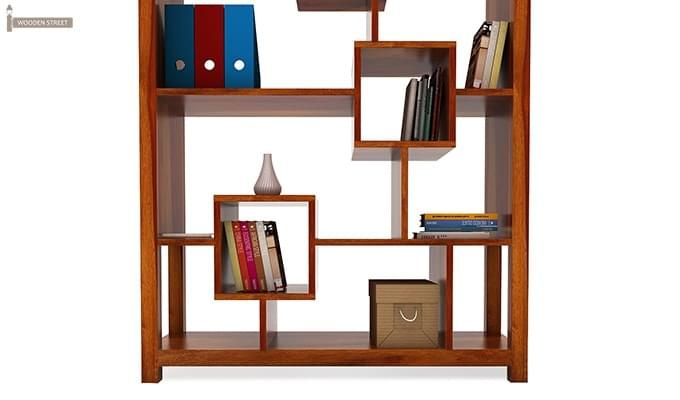Welles Book Shelves (Honey Finish)-6