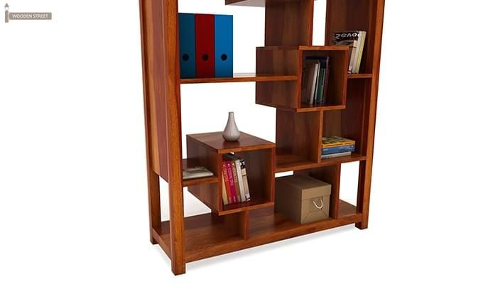 Welles Book Shelves (Honey Finish)-7