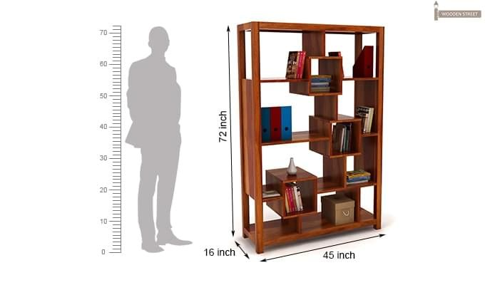 Welles Book Shelves (Honey Finish)-8
