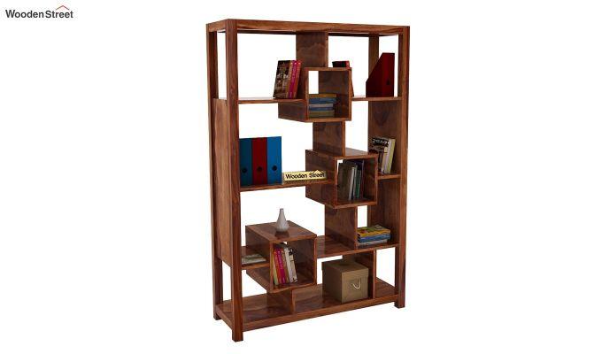 Welles Book Shelves (Teak Finish)-1