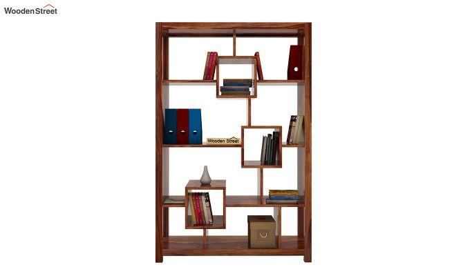 Welles Book Shelves (Teak Finish)-2