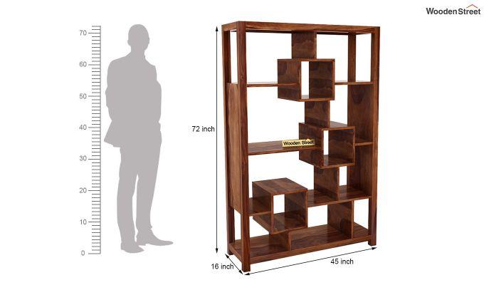 Welles Book Shelves (Teak Finish)-7