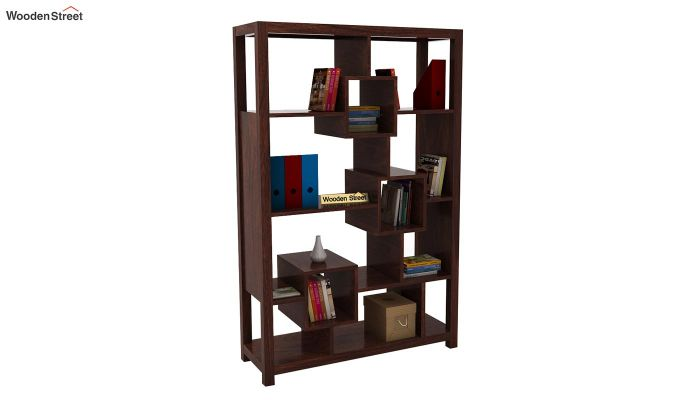 Welles Book Shelves (Walnut Finish)-2