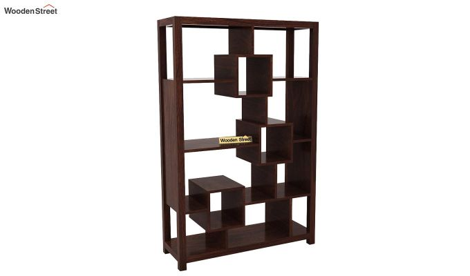 Welles Book Shelves (Walnut Finish)-4