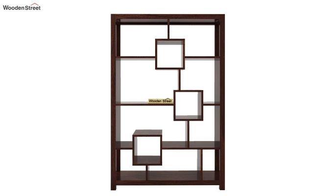 Welles Book Shelves (Walnut Finish)-5