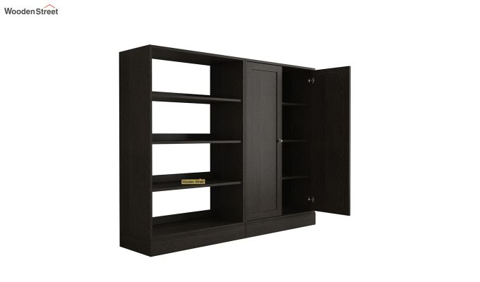 Astra Bookshelf with Storage (Flowery Wenge Finish)-4